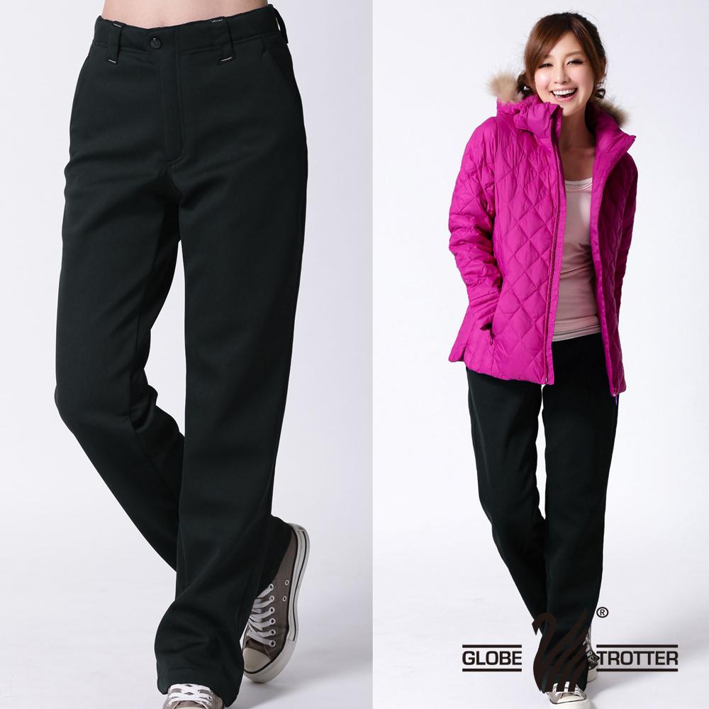 【遊遍天下】女款保暖防風內刷毛長褲A071黑