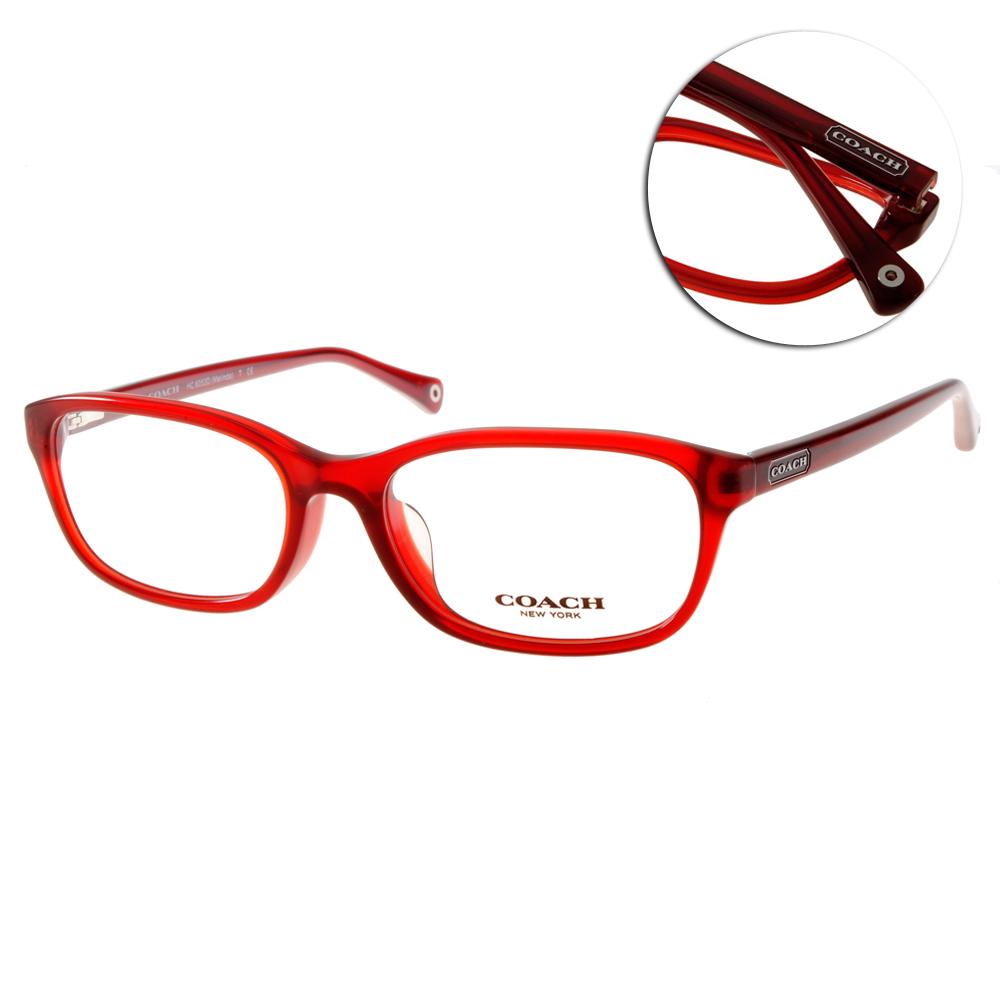 COACH眼鏡 經典版型/紅#CO6053D 5029