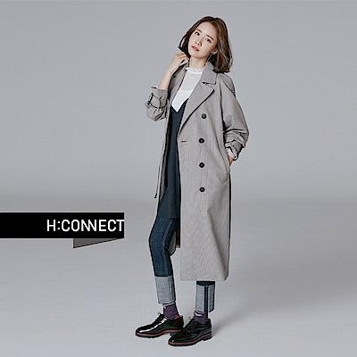 H:CONNECT 韓國品牌 女裝 - 破損反摺牛仔褲 - 藍
