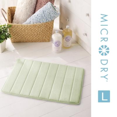 Microdry 時尚地墊 舒適記憶綿浴墊【香草綠/ L】