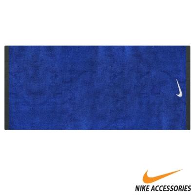 NIKE 運動毛巾藍/白款(大120x60cm)- 快速到貨