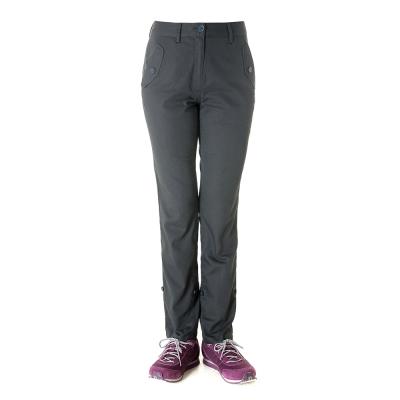 【hilltop山頂鳥】女款HITEC輕量吸濕快乾抗UV合身長褲S07FD7-黑