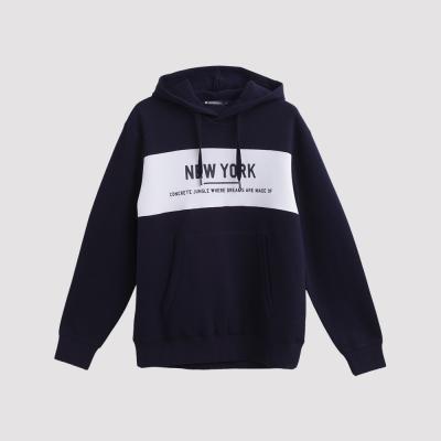 Hang Ten - 男裝 - NEW YORK抽繩帽T - 藍