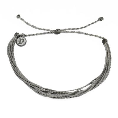 Pura Vida 美國手工 深灰色基本繽紛款 可調式手鍊衝浪海灘防水手繩