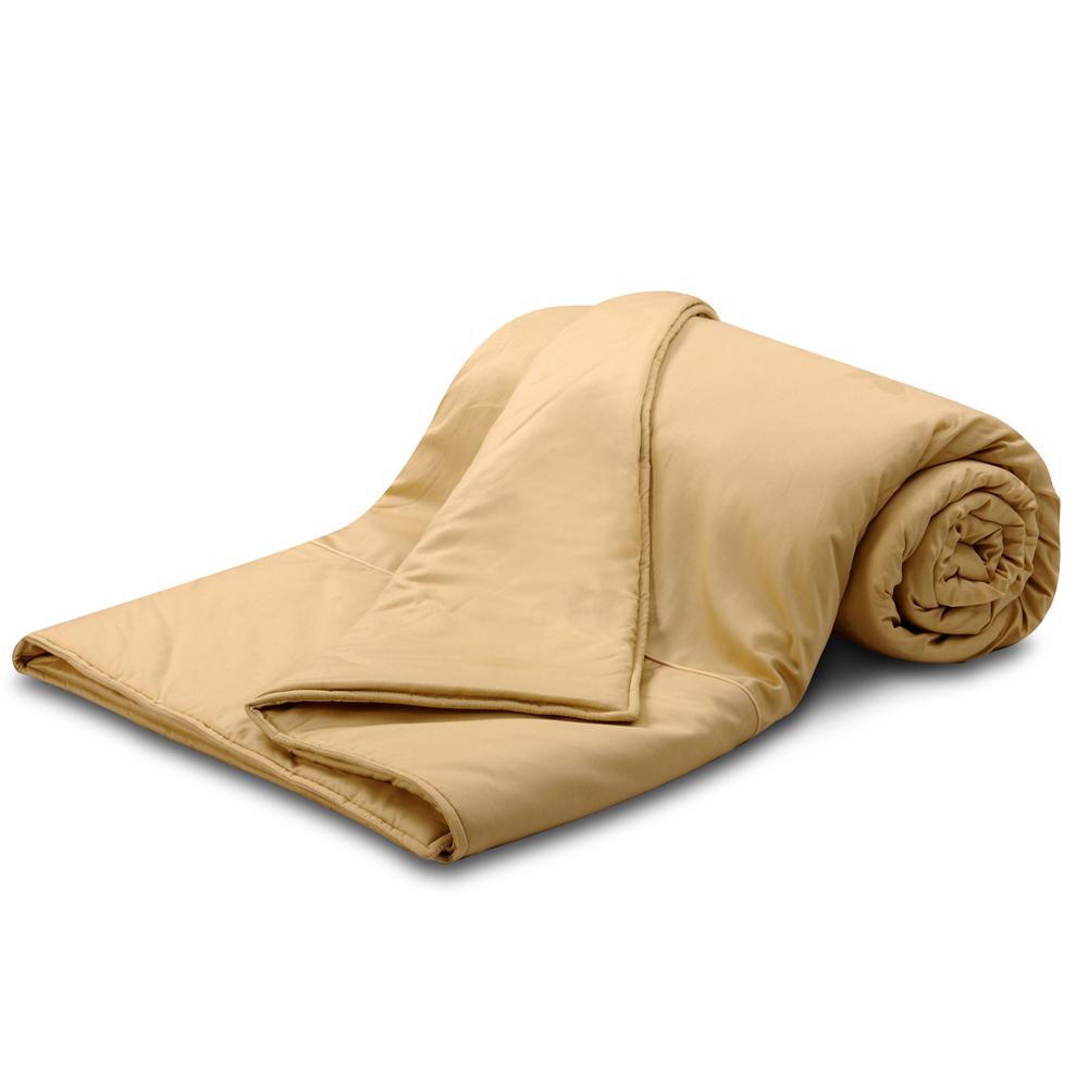 【Famttini-典藏原色】純棉涼被5x6.2尺-金黃