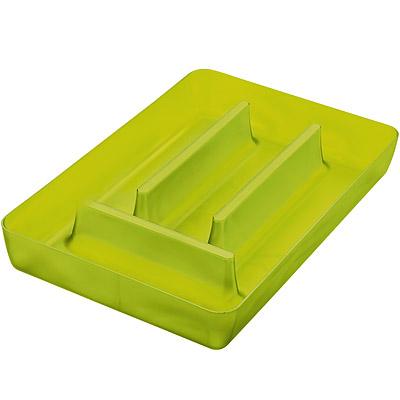 KOZIOL Rio 4格餐具收納盒(透綠)