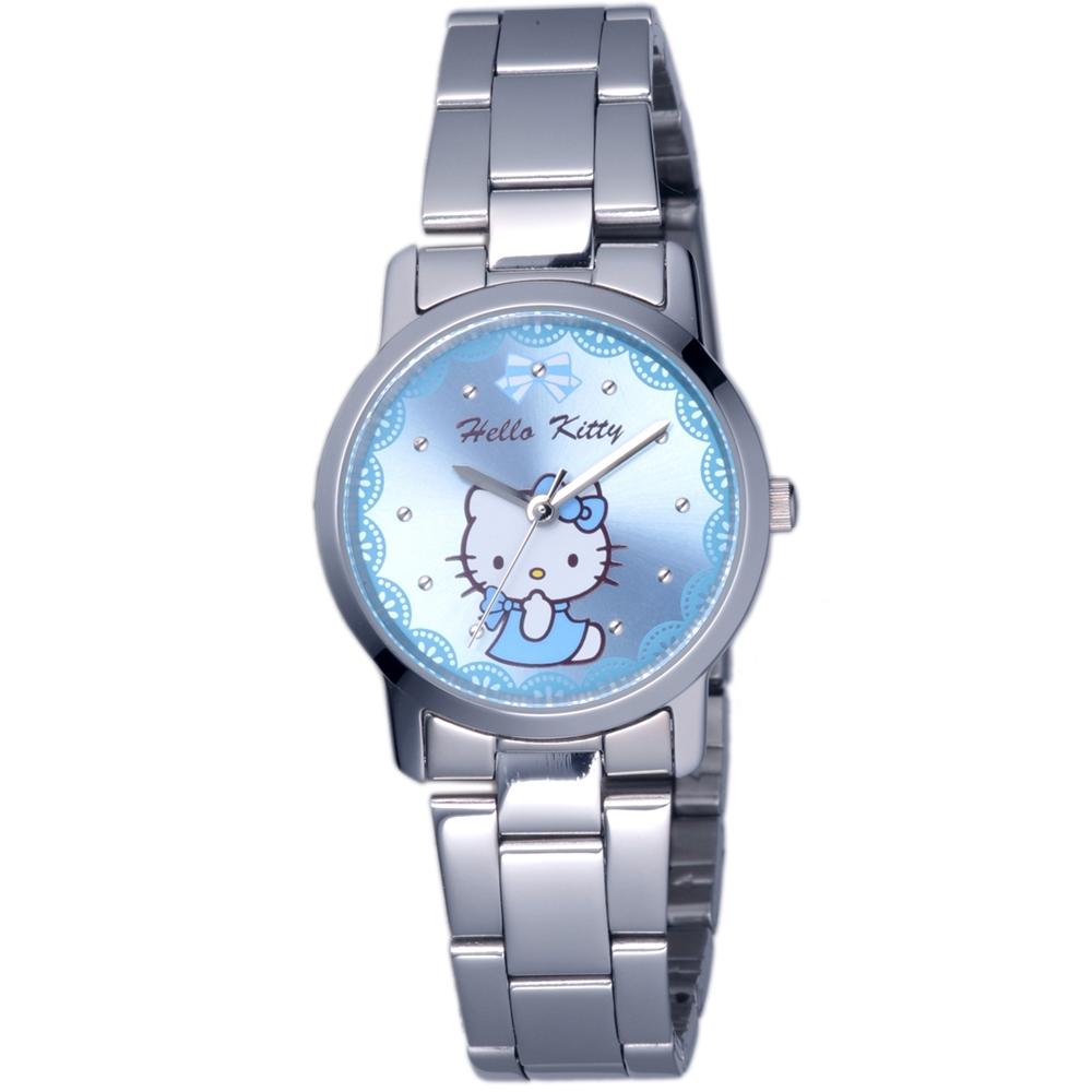 HELLO KITTY 凱蒂貓可愛滿分俏麗手錶-藍/30mm