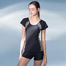AMANDA艾曼達 泳裝 連身-有袖仿兩件式-附帽(M~XL)
