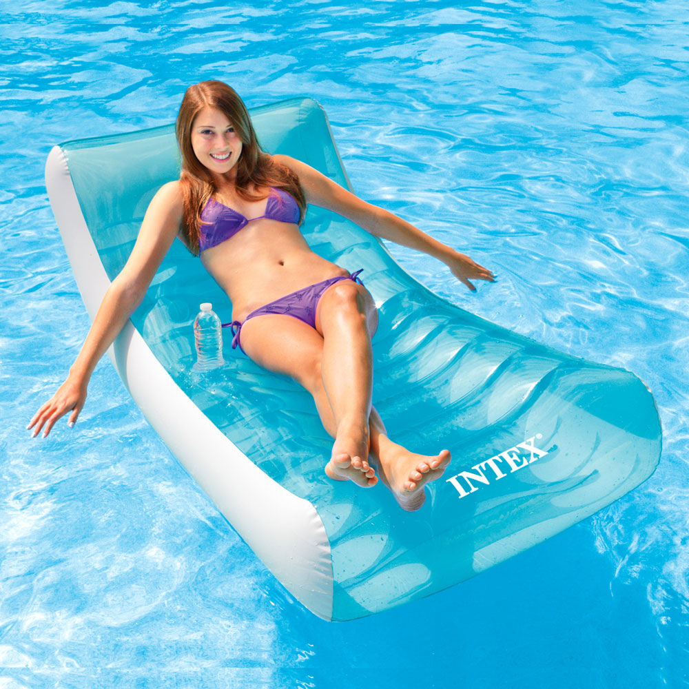 INTEX 藍海戶外充氣躺椅/漂流躺椅 (58856)