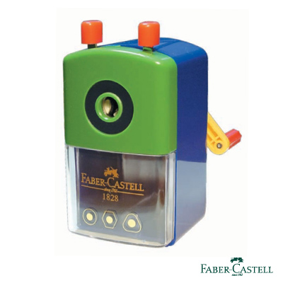 Faber-Castell 紅色系 大小通用削鉛筆機 (不挑色)