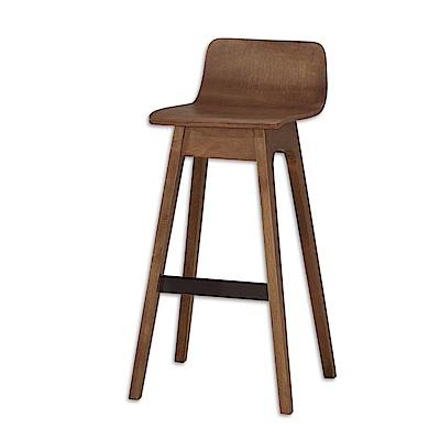 Bernice-華德實木吧台椅/高腳椅/單椅(雙色可選)-46x46x89cm