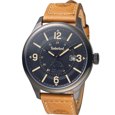 Timberland 時光之旅經典復古腕錶-黑/46mm