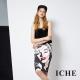 ICHE-衣哲-普普人像印花時尚鉛筆及膝裙