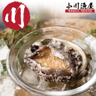 小川漁屋 極品南非活凍帶殼鮑魚1包(500G+-10%包/約6~8粒)
