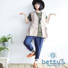betty's貝蒂思 寬鬆棉麻哈倫長褲(藍色)