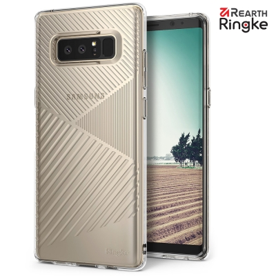 RINGKE 三星 Galaxy Note 8 Bevel 極簡線型吸震緩衝手機...