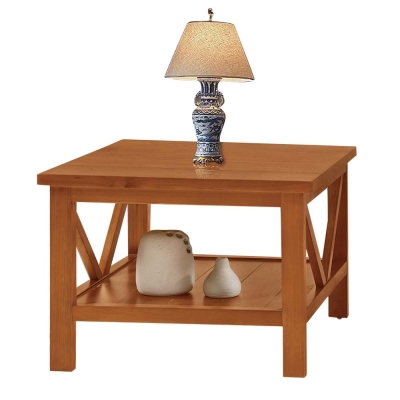 Bernice-奇爾2.4尺實木小茶几/邊桌-73x73x56cm