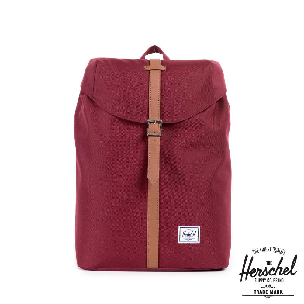 Herschel Post Mid 後背包-紅色