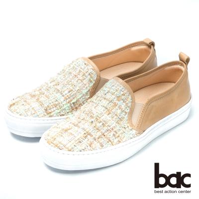 bac時尚品味  小香系列平底樂福鞋-卡其