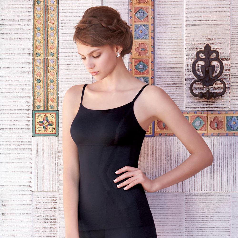 曼黛瑪璉-美型顯瘦 細肩帶平口小可愛S-XL(黑)