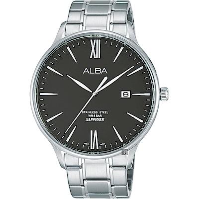 ALBA雅柏 時尚東京石英男錶(AS9E93X1)-黑x銀/43mm
