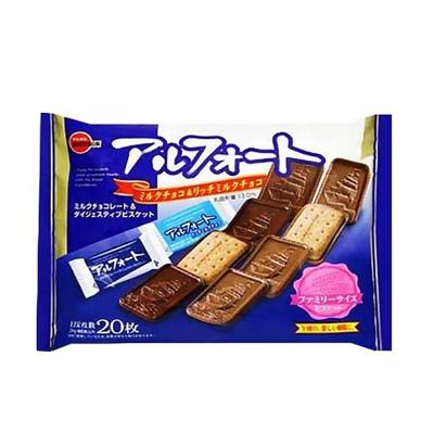 Bourbon北日本 帆船巧克力餅乾家庭包(204g)