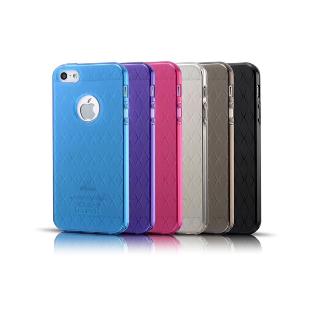ICARER APPLE iPhone5/5S / iPhone5/5S鑽石紋軟套