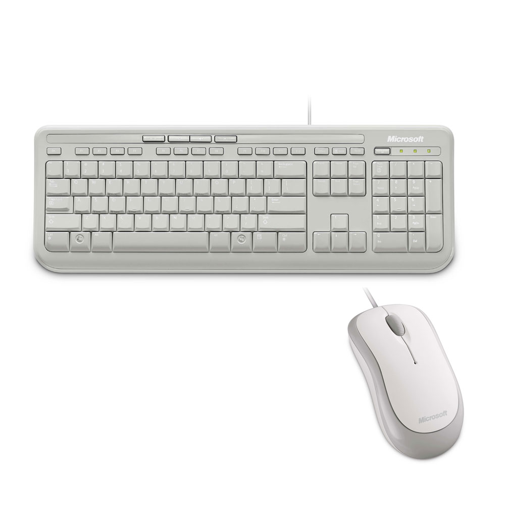 Microsoft 微軟 標準滑鼠鍵盤組 600(白色)