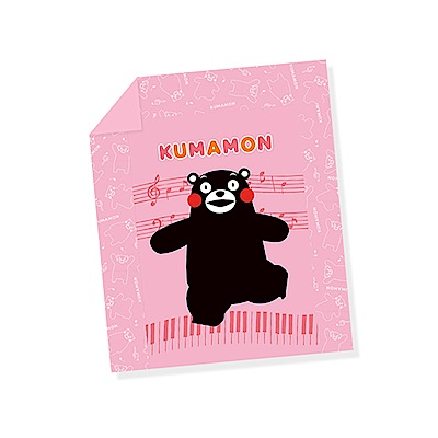 享夢城堡 雙人涼被5x6-酷MA萌KUMAMON熊本熊 音樂會-粉.藍
