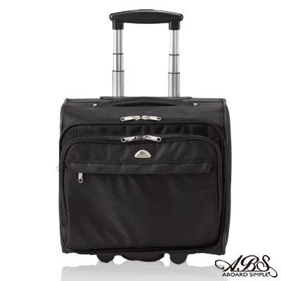ABS愛貝斯-超輕量可登機-橫式電腦拉桿公事包-時