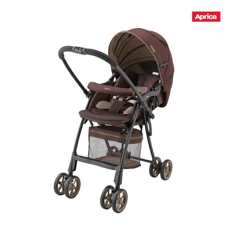 Aprica FLYLE飛舞系列 輕量嬰幼兒雙向手推車 褐花