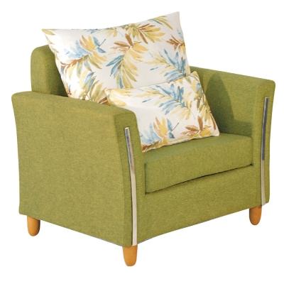 品家居-多蒂布面沙發單人座-兩色可選-88x84x