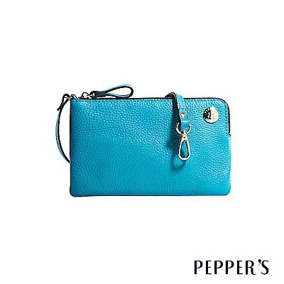 PEPPER`S Doris 牛皮手機隨身包 - 蔚藍