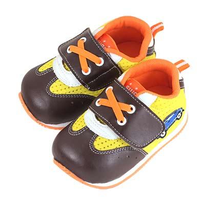 Swan天鵝童鞋-可愛汽車警車機能學步鞋 1554-咖