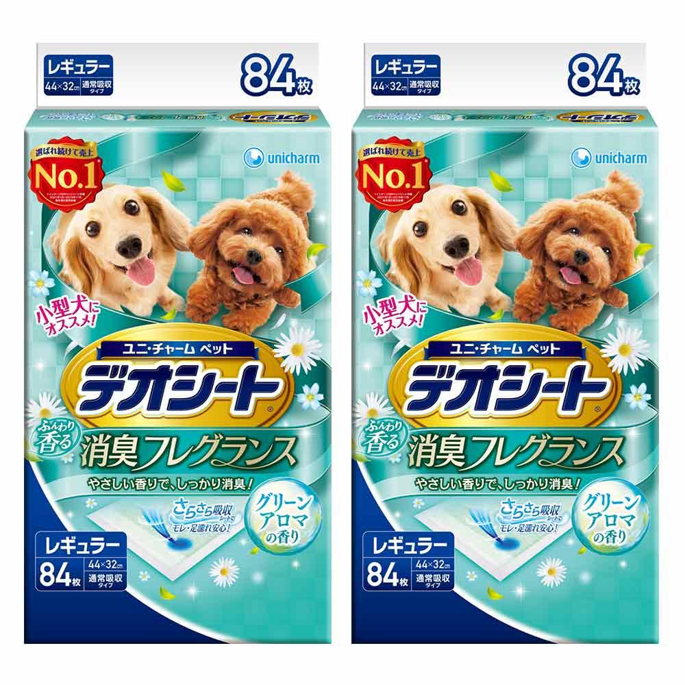 日本Unicharm消臭大師 小型犬狗尿墊 森林香 M號 84片裝 x 2包