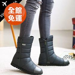現貨!正韓製防水羽絨保暖內增高刷毛雪靴