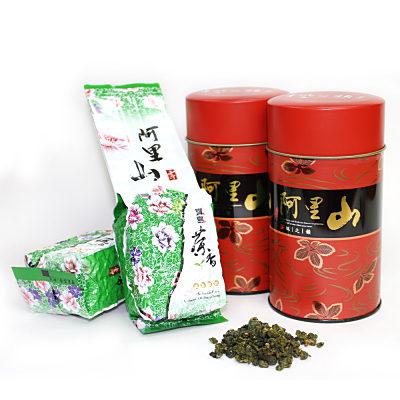 台灣茗茶 阿里山高山茶2罐組(附提袋)