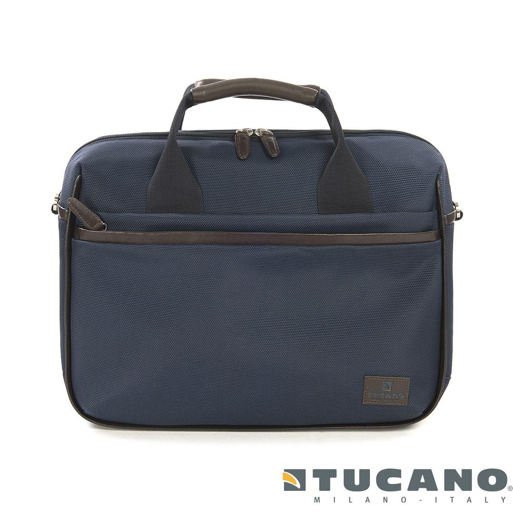 Tucano EDGE 15 吋典藏時尚風格二用包-藍色
