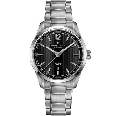 Hamilton 漢米爾頓 BROADWAY 日期星期機械錶-黑x銀/42mm