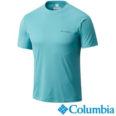 【Columbia哥倫比亞】男-酷涼快排防曬30短袖上衣-碧綠 UAE60840JP