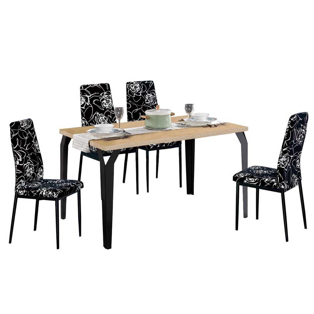 AT HOME-木質系4.3尺餐桌椅組-一桌四椅 130x80x75cm
