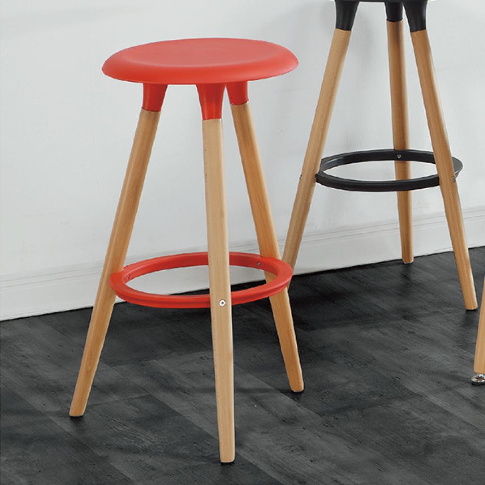 AS-德瑞克紅色高腳椅-36x36x77cm