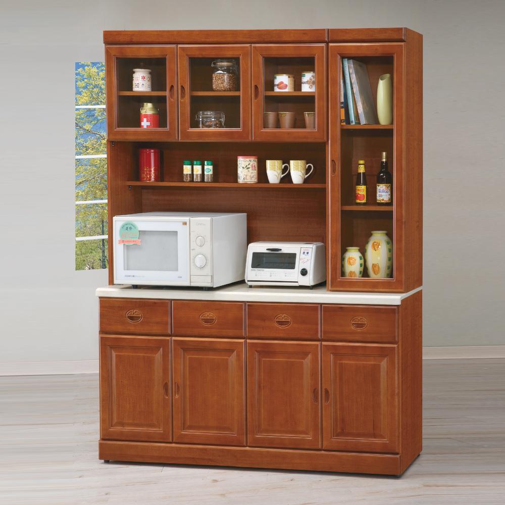 AS-安妮塔樟木色5.3尺石面高餐櫃 160X42X205cm
