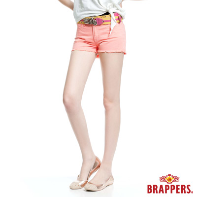 BRAPPERS 女款BoyFriendJeans系列-女用熱褲-淺粉橘