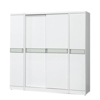 Bernice-查斯6.7尺白色推門衣櫃-201x60x198cm