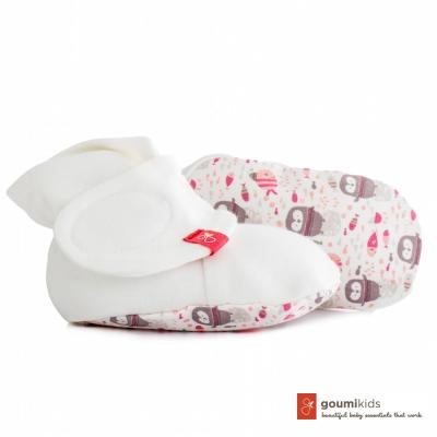 美國 GOUMIKIDS 有機棉嬰兒腳套 (小企鵝-粉色)