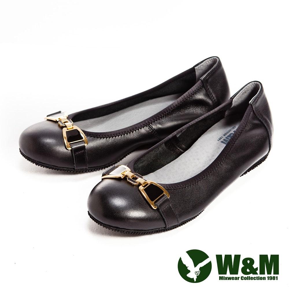 W&M 金屬蝴蝶結防滑鞋底娃娃鞋-黑