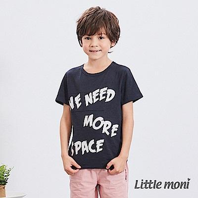Little moni 字母印圖棉T (2色可選)