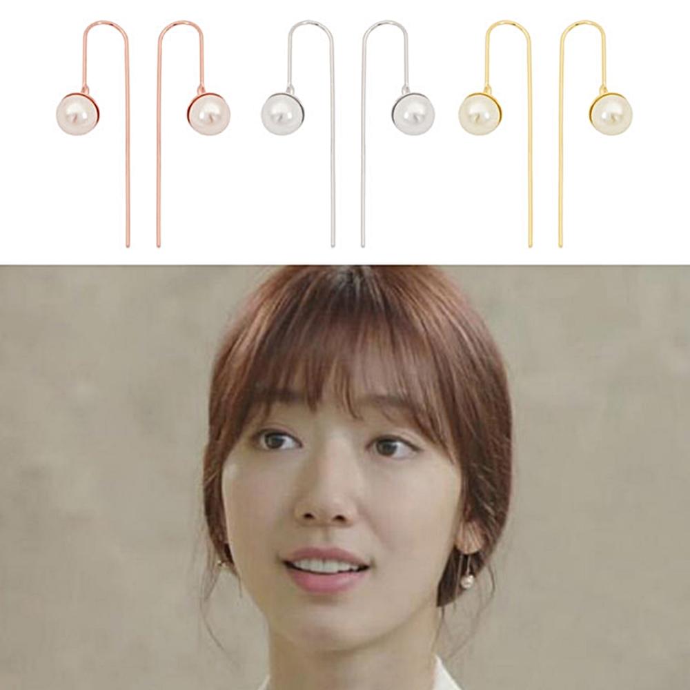 梨花HaNA  韓國DOCTORS朴信惠病院LOOK珍珠球U型耳環