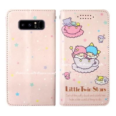 三麗鷗授權 Kikilala 雙子星 Samsung Note8 隱形磁力皮套(...